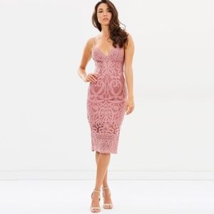 Bardot Gia Lace Dress Mauve Pink
